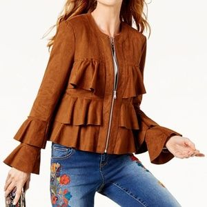 NWT~INC International Concepts ~ Faux Suede Jacket